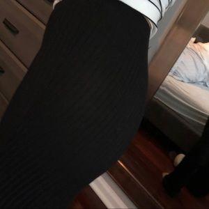 Pants - Ribbed black Bells